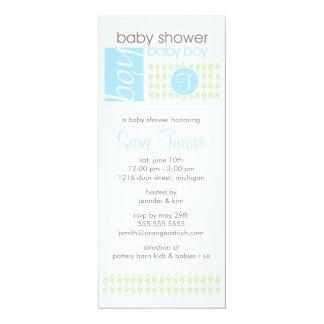 Boy Baby Shower Invitation - Trendy