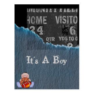 Boy-baby shower postcards
