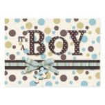 Boy Baby Shower Reminder Card Business Card Templates