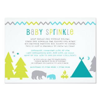 Boy baby sprinkle | Nordic bears trees stars Card