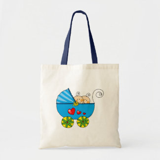 Boy baby twins tote bag