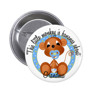 Boy - Bananas About Grandma Tshirts and Gifts Buttons
