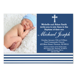 Boy Baptism Invitation, Baptism Invite, Christen 13 Cm X 18 Cm Invitation Card