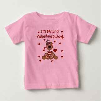 Boy Bear 2nd Valentine's Day Baby T-Shirt