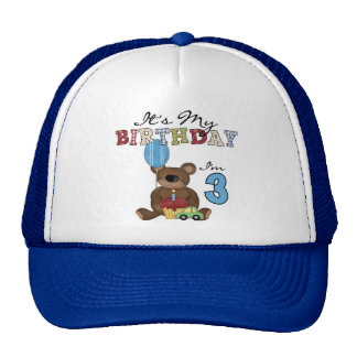 Boy Bear 3rd Birthday Tshirts and Gifts Cap