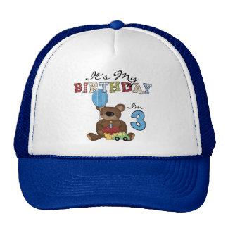 Boy Bear 3rd Birthday Tshirts and Gifts Cap