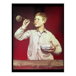 Boy Blowing Bubbles, 1867-69 Postcard