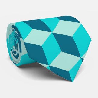 Boy Blue Building Blocks Seamless Pattern Tie