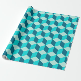 Boy Blue Building Blocks Seamless Pattern Wrapping Paper