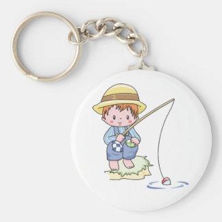 Boy Blue Fishing Key Chain