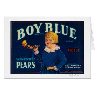 Boy Blue Pear Crate Label Card