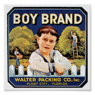 Boy Brand Walter Packing Co. Crate Label Poster