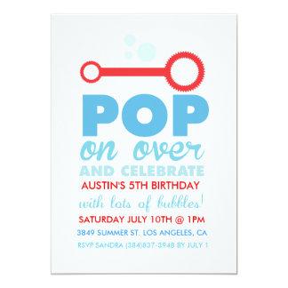 (Boy) Bubble Party Themed Birthday Invite