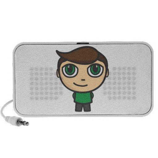 Boy Cartoon Character Doodle Speakers