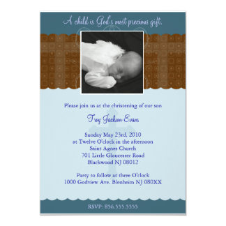 Boy Christening/Baptism Invitation