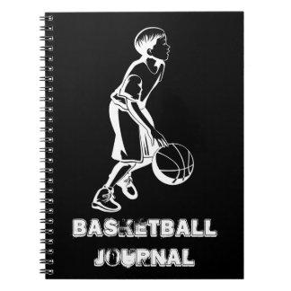 Boy Dribbling a Basketball Notebook
