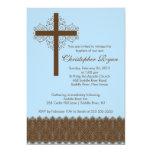 Boy Elegant Lace  Baptism   Christening Cross