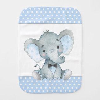 Boy Elephant Baby Burp Cloths