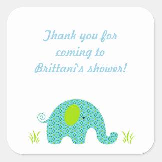 Boy Elephant Baby Shower Favor Sticker