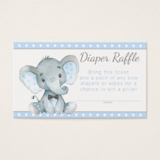 Boy Elephant Diaper Raffle Tickets