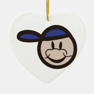 Boy Face Ceramic Heart Decoration