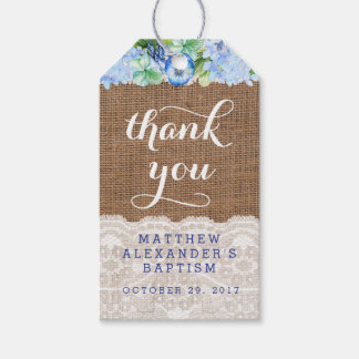 Boy favour tags for Baptism or Christening Party