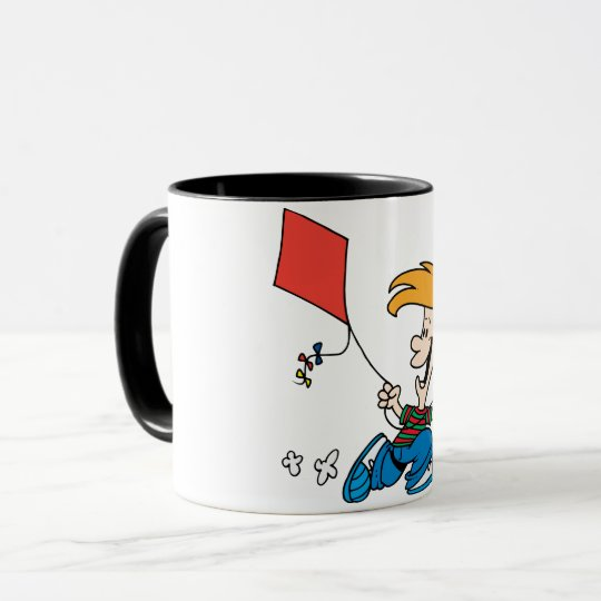 Boy Flying A Kite Mug
