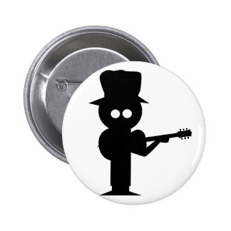 Boy Folk Singer 6 Cm Round Badge