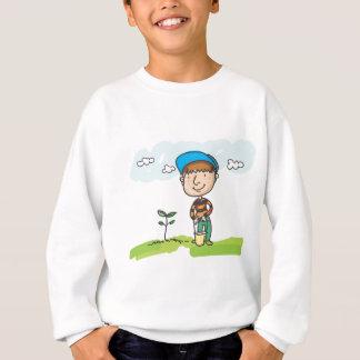 Boy gardening, tree planting sweatshirt