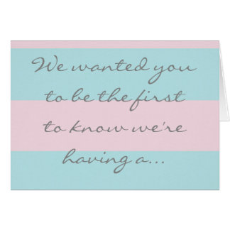 Boy gender reveal card