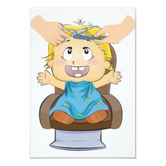 Boy Getting A Haircut Invitations