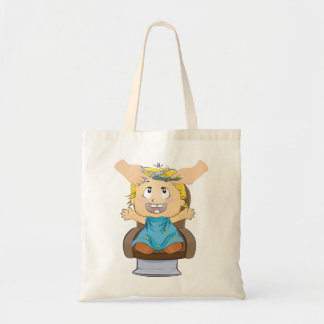 Boy Getting A Haircut Tote Bag