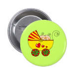 Boy & Girl baby twins Pinback Buttons