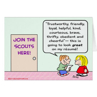 boy girl scouts join great resume card