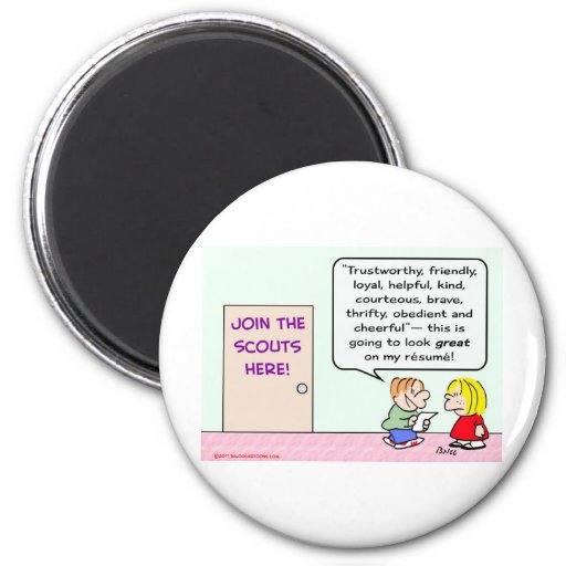 boy girl scouts join great resume refrigerator magnets