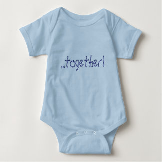 boy/girl twin baby bodysuit