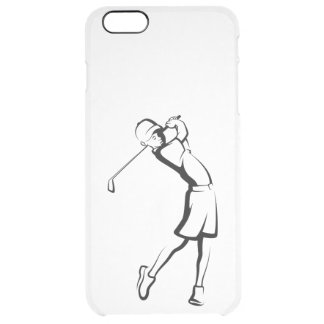 Boy Golfer Clear iPhone 6 Plus Case