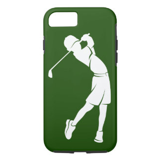 Boy Golfer Silhouette iPhone 8/7 Case