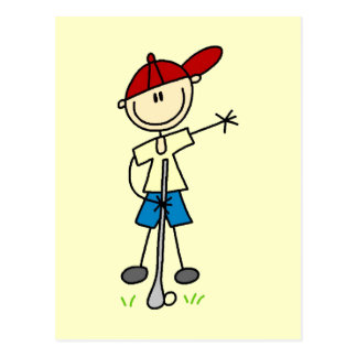 Boy Golfer Tshirts and Gifts Postcard