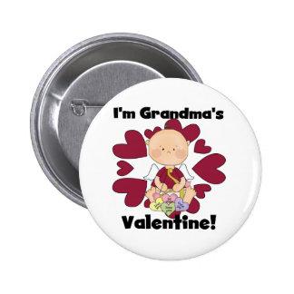 Boy Grandma's Valentine Tshirts and Gifts Pinback Button
