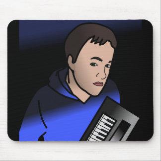 Boy Holding Keyboard Digital Art Mousemat