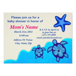 Boy Honu Baby Shower 6.5x8.75 Paper Invitation Card