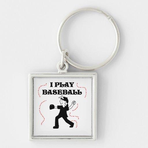 Boy  I Play Baseball Tshirts and Gifts Keychain