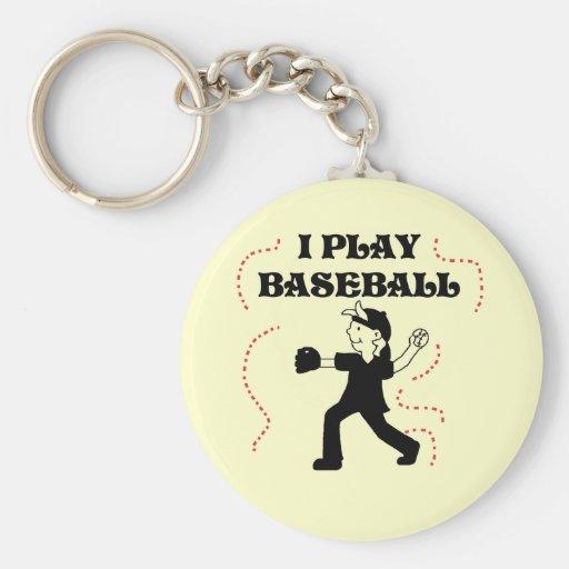 Boy  I Play Baseball Tshirts and Gifts Key Chain