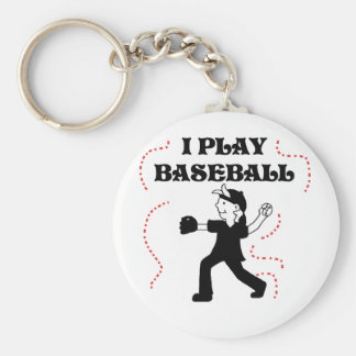 Boy  I Play Baseball Tshirts and Gifts Basic Round Button Key Ring
