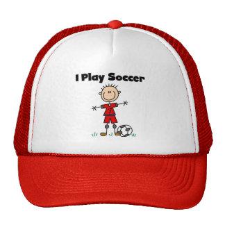 Boy I Play Soccer Cap