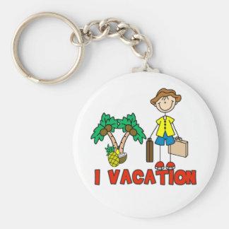 Boy I Vacation Basic Round Button Key Ring