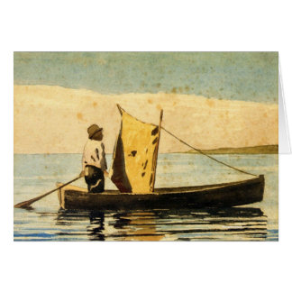 Boy in a Small Boat Greeting Card