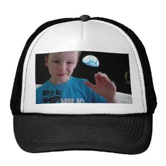 Boy in space cap