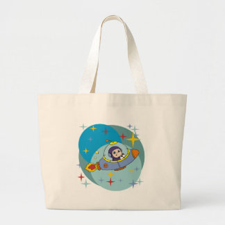 Boy in Spaceship Jumbo Tote Bag